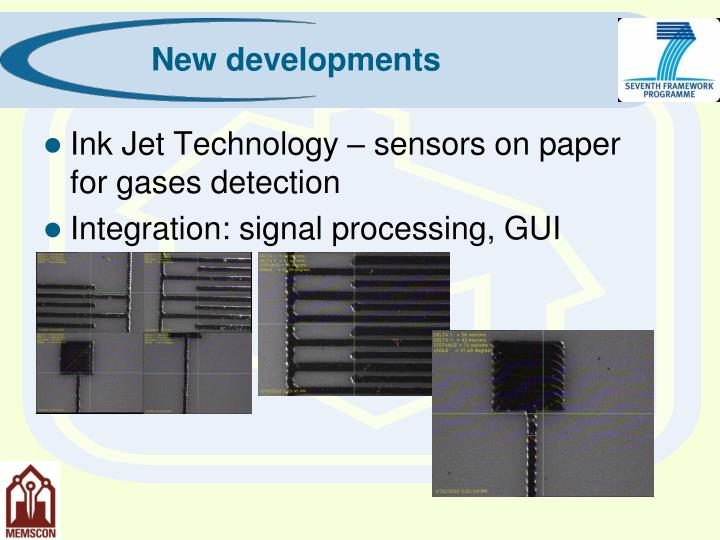 Ink Jet Technology – sensors on paper for gases detection