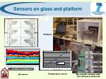 sensors on glass and platform