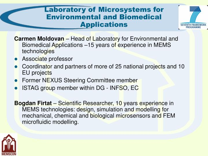 Laboratory of Microsystems for Environmental and Biomedical Applications
