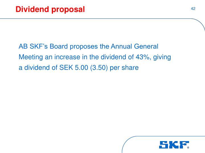 Dividend proposal