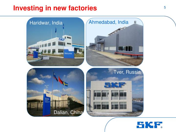 Investing in new factories