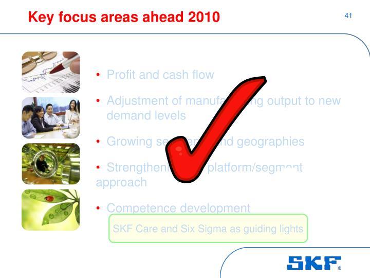 Key focus areas ahead 2010