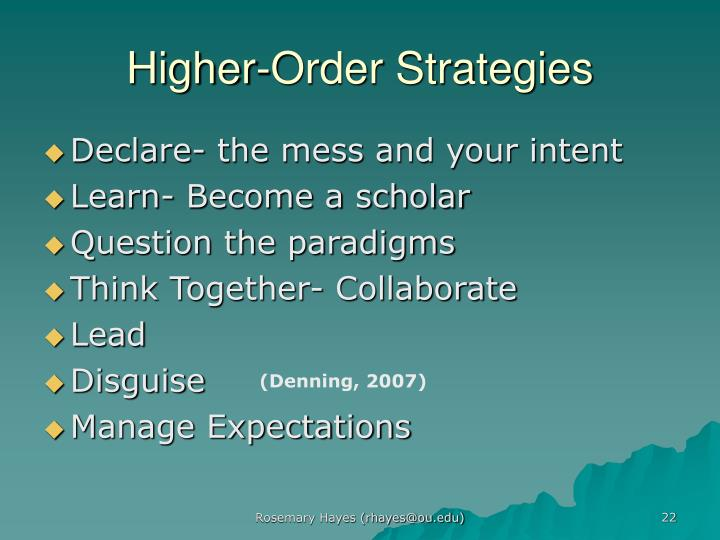 Higher-Order Strategies