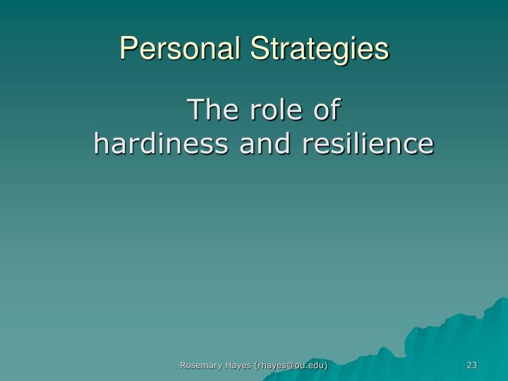 Personal Strategies