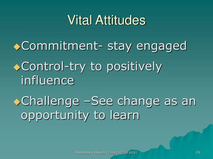Vital Attitudes
