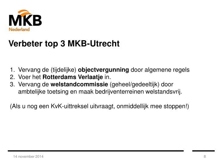 Verbeter top 3 MKB-Utrecht