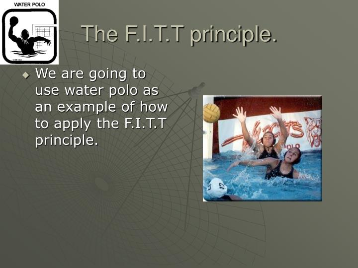 We are going to use water polo as an example of how to apply the F.I.T.T principle.