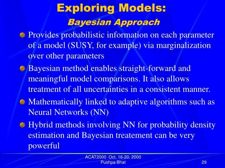 Exploring Models: