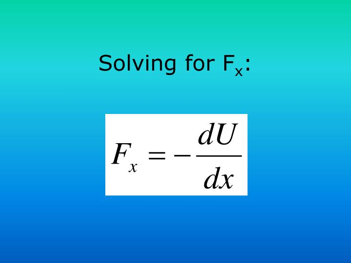 Solving for F