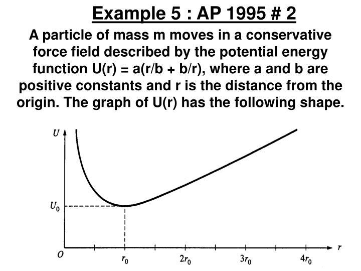 Example 5 : AP 1995 # 2