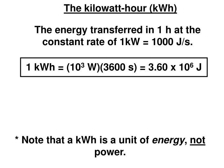 1 kWh = (10
