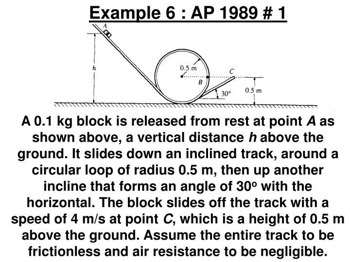Example 6 : AP 1989 # 1