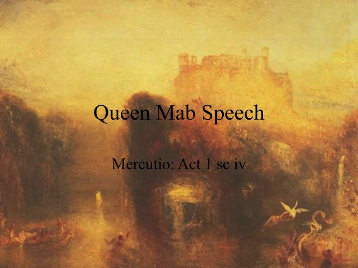 Queen mab speech