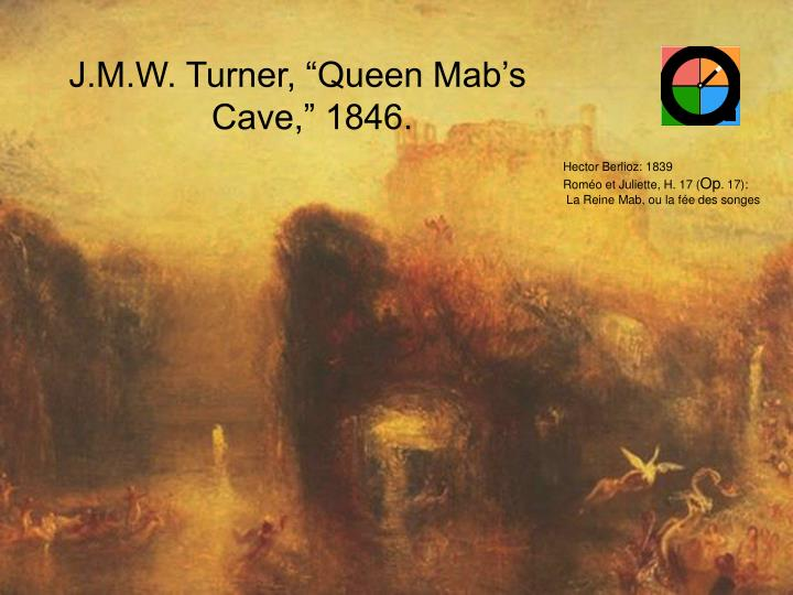 "J.M.W. Turner, ""Queen Mab's Cave,"" 1846."