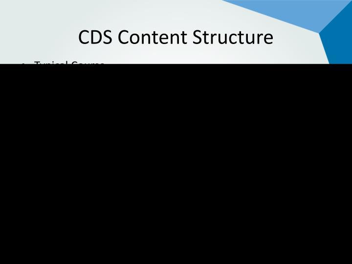 CDS Content Structure