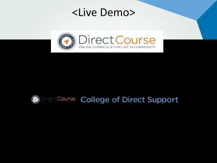 <Live Demo>