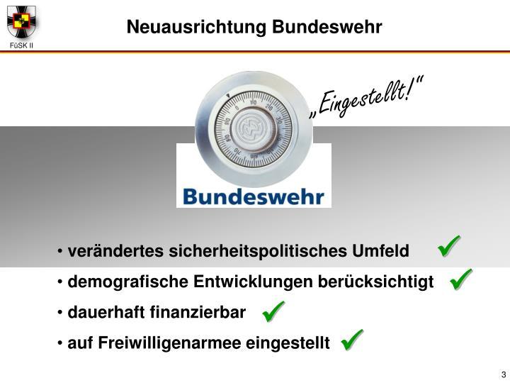 Neuausrichtung Bundeswehr