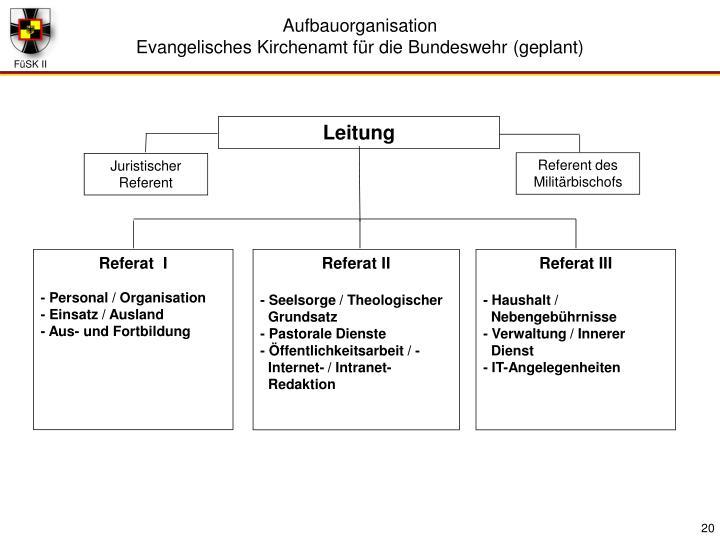 Aufbauorganisation
