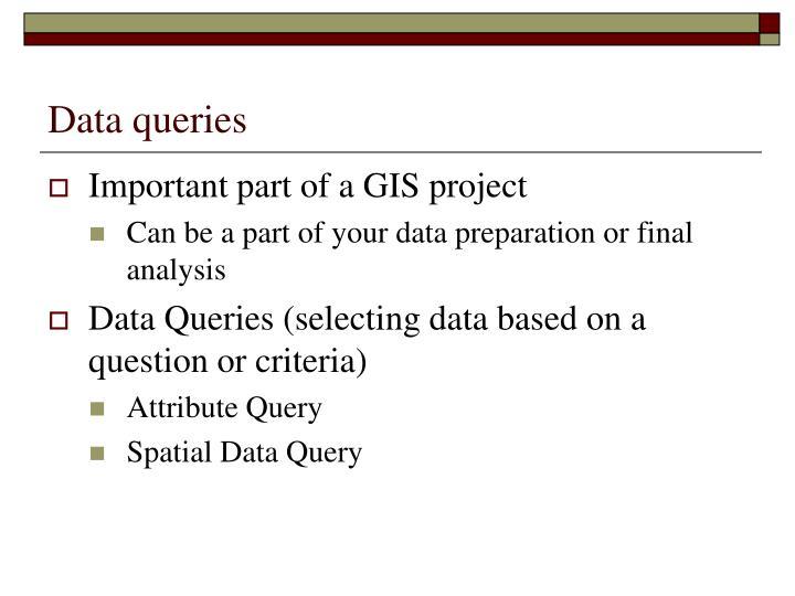 Data queries