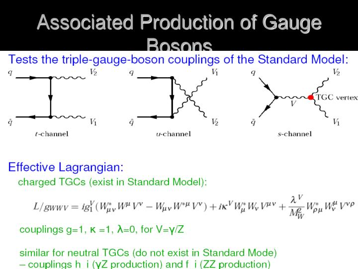 Associated Production of Gauge Bosons