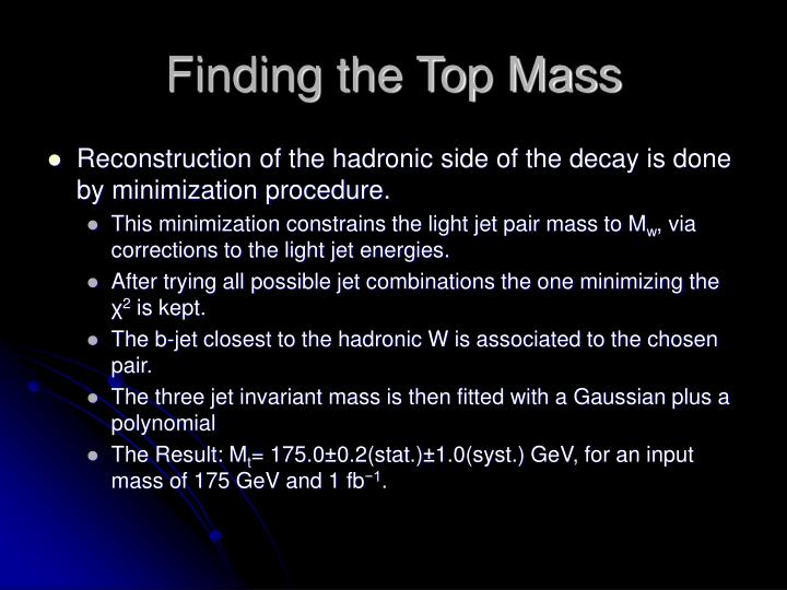 Finding the Top Mass