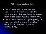 w mass extraction