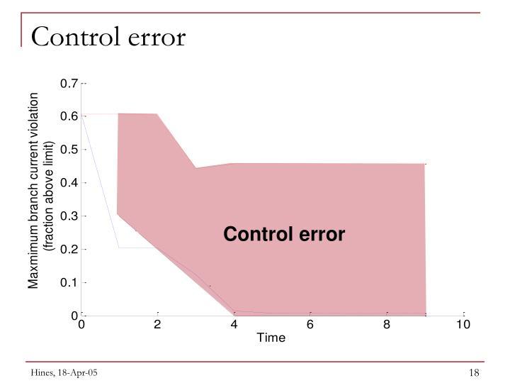 Control error