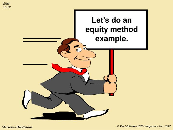 Let's do an equity method example.