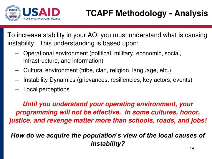TCAPF Methodology - Analysis