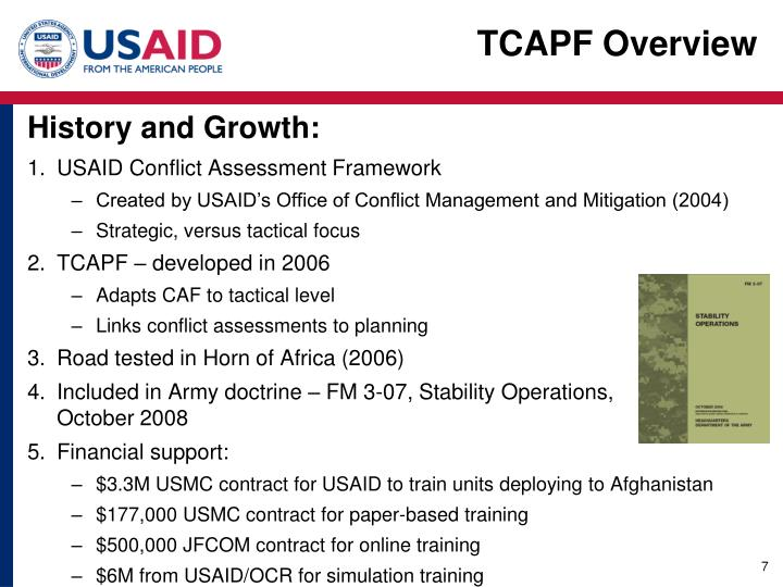 TCAPF Overview