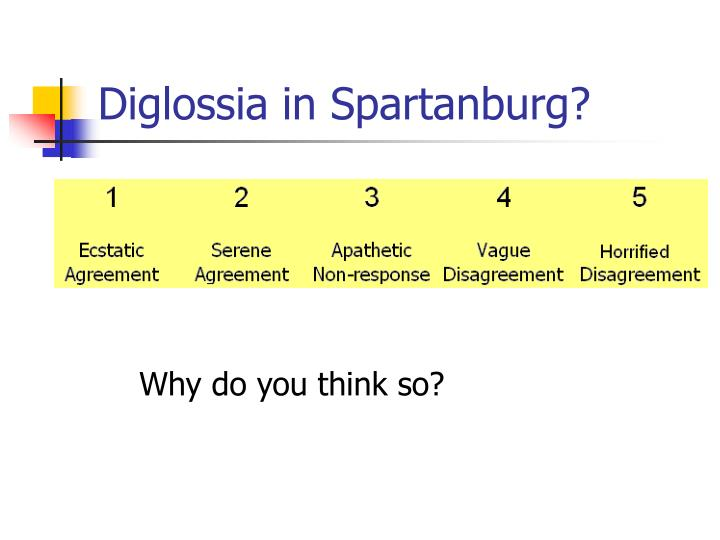 Diglossia in Spartanburg?