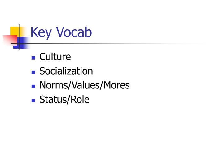 Key Vocab
