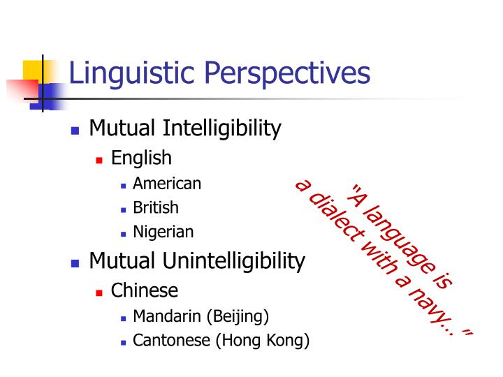 Linguistic Perspectives