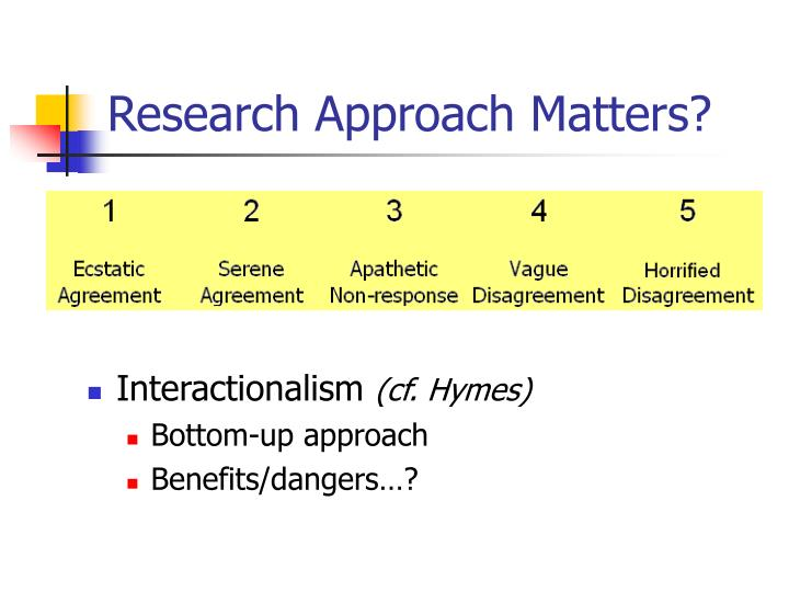 Research Approach Matters?
