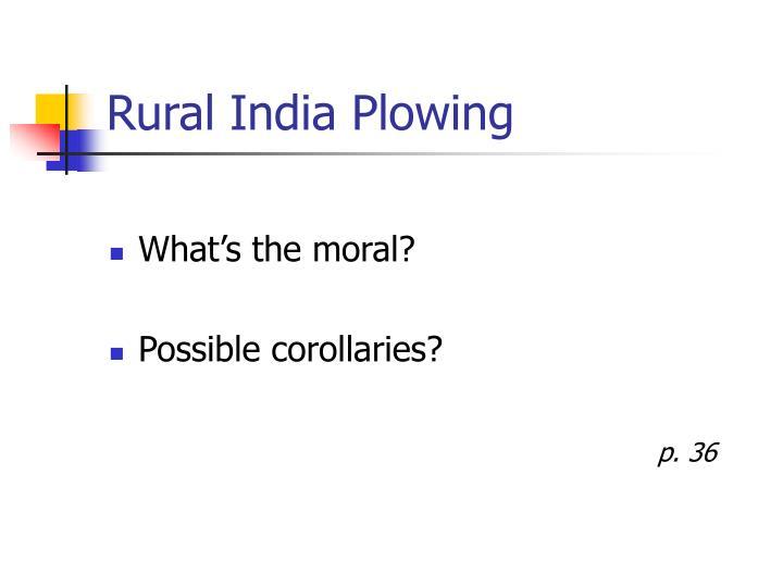 Rural India Plowing