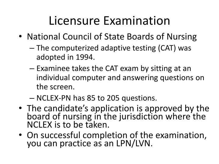Licensure Examination