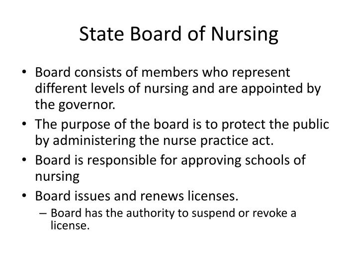 State Board of Nursing