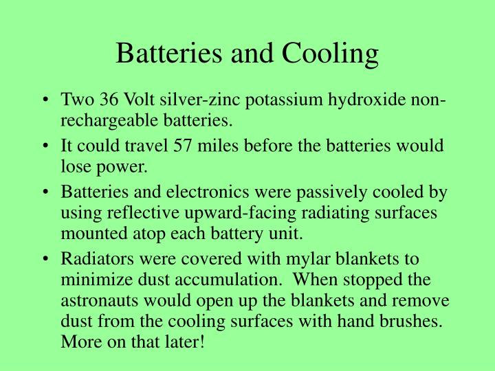 Batteries and Cooling