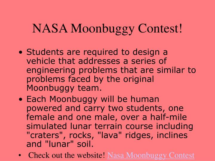 NASA Moonbuggy Contest!