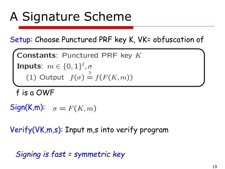 A Signature Scheme