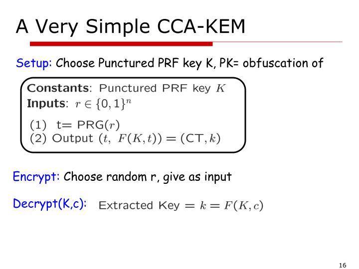 A Very Simple CCA-KEM