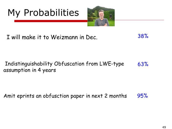 My Probabilities