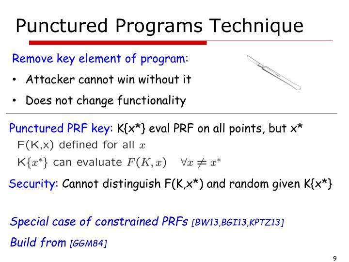 Punctured Programs Technique