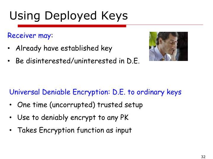 Using Deployed Keys