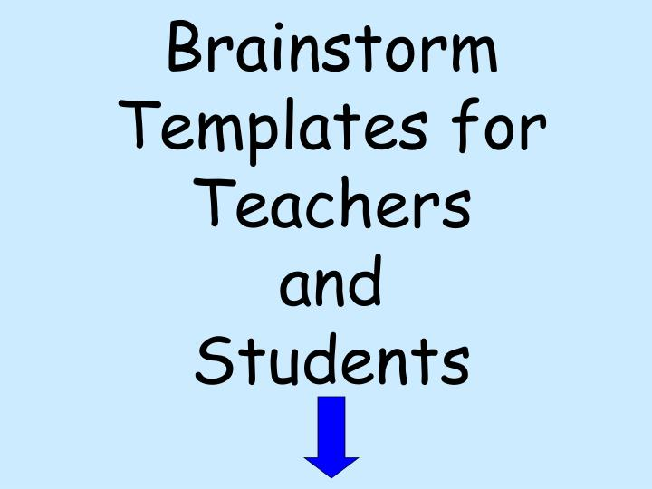 Brainstorm Templates for