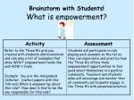 brainstorm with students what is empowerment