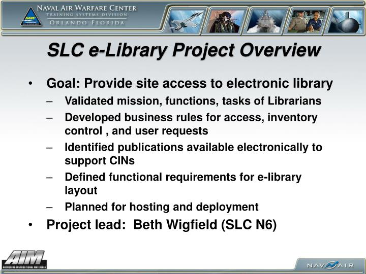 SLC e-Library Project Overview