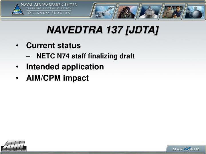 NAVEDTRA 137 [JDTA]