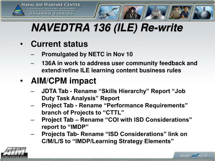 NAVEDTRA 136 (ILE) Re-write