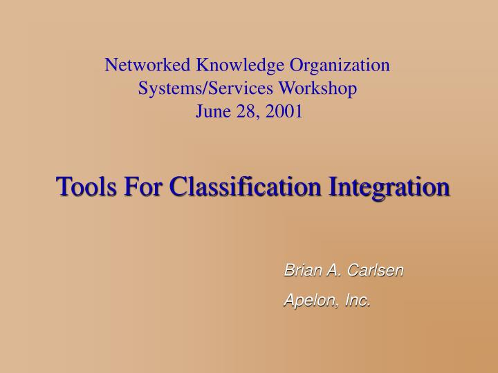 Networked Knowledge Organization